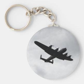 Lancaster Bomber Landing Basic Round Button Key Ring