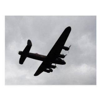 Lancaster Bomber Overhead Postcard