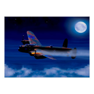 Lancaster Bomber Returning Home Poster