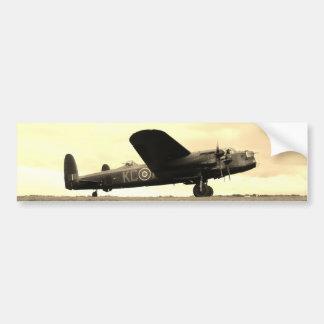 Lancaster Bomber Sepia Tone Bumper Stickers