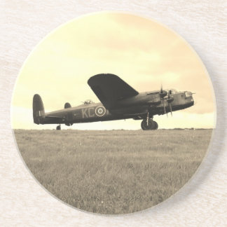 Lancaster Bomber Sepia Tone Beverage Coaster