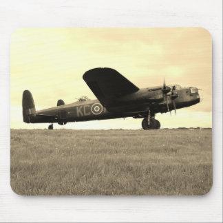 Lancaster Bomber Sepia Tone Mouse Mat