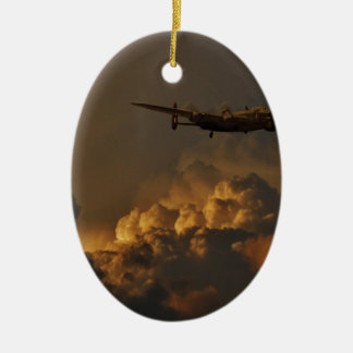 Lancaster bomber STORM Ceramic Oval Decoration