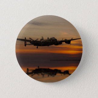 lancaster Bomber the home stretch 6 Cm Round Badge