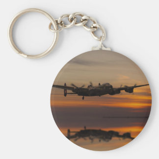 lancaster Bomber the home stretch Basic Round Button Key Ring