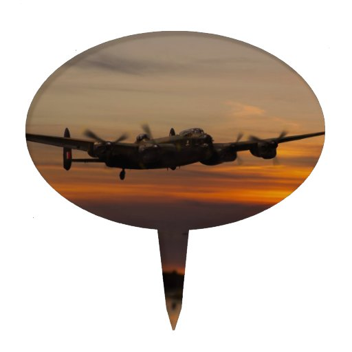 lancaster Bomber the home stretch Cake Topper
