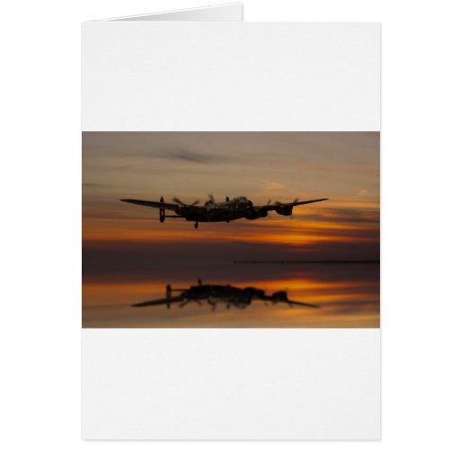 lancaster Bomber the home stretch Greeting Cards