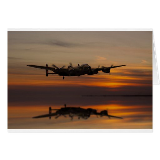 lancaster Bomber the home stretch Card