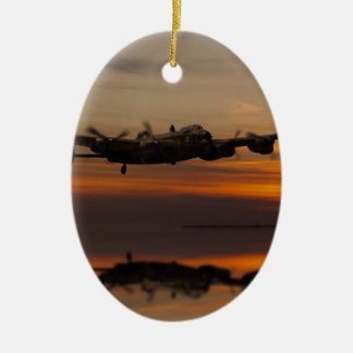 lancaster Bomber the home stretch Ceramic Oval Decoration