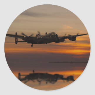 lancaster Bomber the home stretch Classic Round Sticker