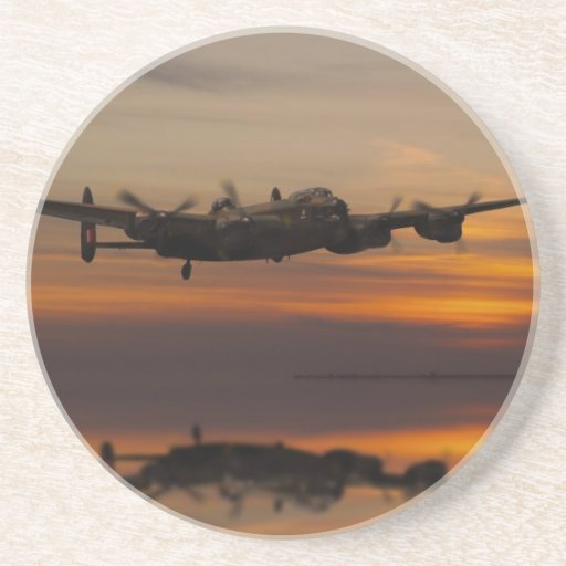 lancaster Bomber the home stretch Beverage Coasters