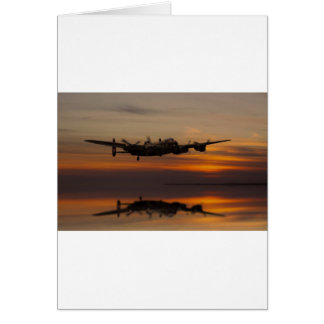 lancaster Bomber the home stretch Greeting Card