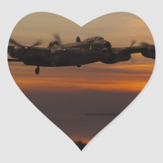 lancaster Bomber the home stretch Heart Sticker