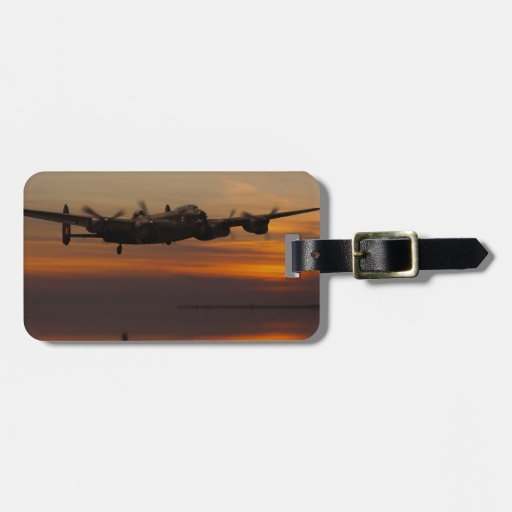 lancaster Bomber the home stretch Travel Bag Tag