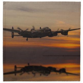 lancaster Bomber the home stretch Printed Napkin