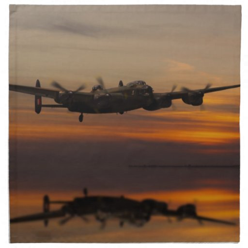 lancaster Bomber the home stretch Printed Napkin