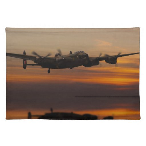 lancaster Bomber the home stretch Placemats