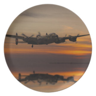 lancaster Bomber the home stretch Plate