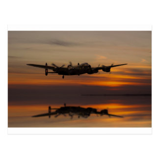 lancaster Bomber the home stretch Postcard