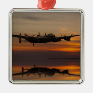lancaster Bomber the home stretch Silver-Colored Square Decoration