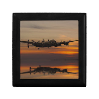 lancaster Bomber the home stretch Small Square Gift Box