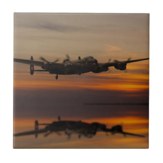 lancaster Bomber the home stretch Small Square Tile