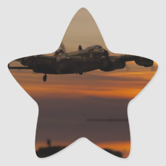 lancaster Bomber the home stretch Star Sticker