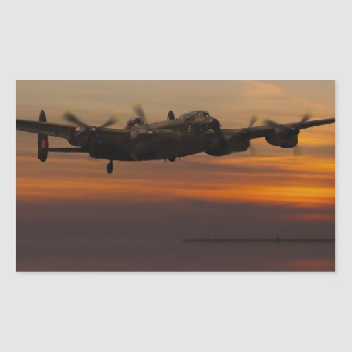 lancaster Bomber the home stretch Stickers