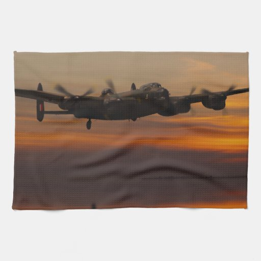 lancaster Bomber the home stretch Towels