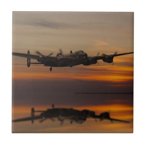 lancaster Bomber the home stretch Tiles