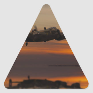 lancaster Bomber the home stretch Triangle Sticker