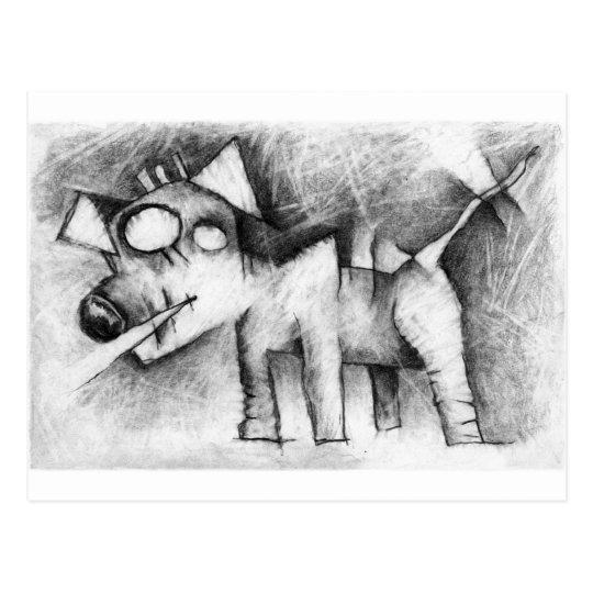 lancaster dog postcard