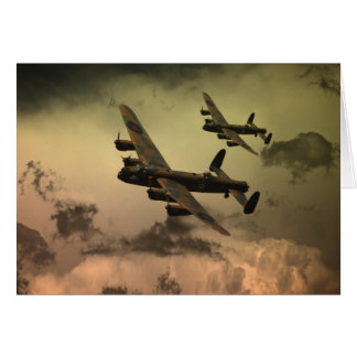 Lancaster Fire In The Sky Card