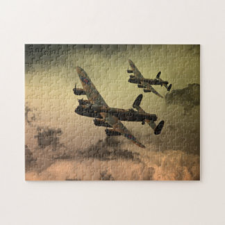 Lancaster Fire In The Sky Jigsaw Puzzle
