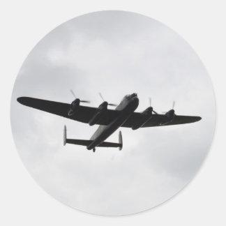 Lancaster Heavy Bomber Round Sticker