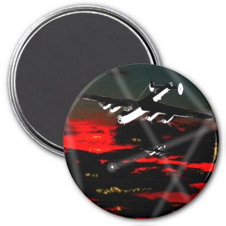 Lancaster Raid over Reich 7.5 Cm Round Magnet