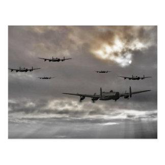Lancaster Raid Postcard