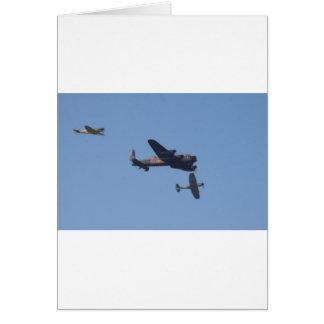 Lancaster Spitfire Hurricane Card