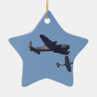 Lancaster Spitfire Hurricane Ceramic Star Decoration