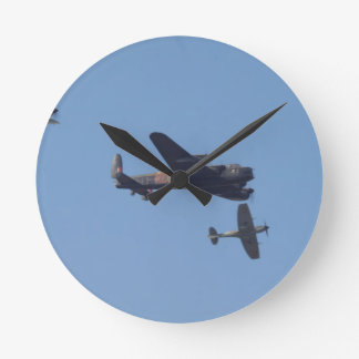 Lancaster Spitfire Hurricane Wallclocks