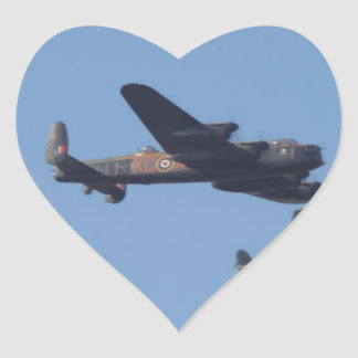 Lancaster Spitfire Hurricane Heart Sticker