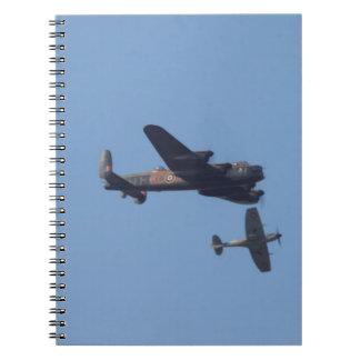 Lancaster Spitfire Hurricane Note Books