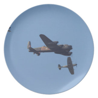 Lancaster Spitfire Hurricane Plates