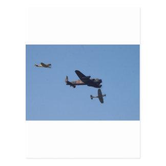 Lancaster Spitfire Hurricane Postcard