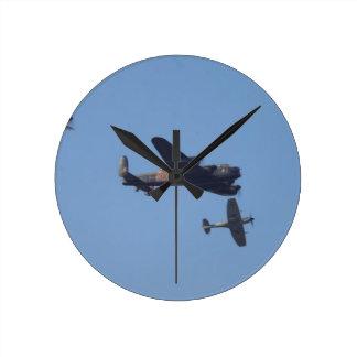 Lancaster Spitfire Hurricane Round Clock