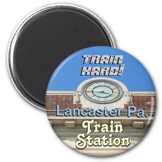 Lancaster Train Station! Train Hard Keychain! Magnet