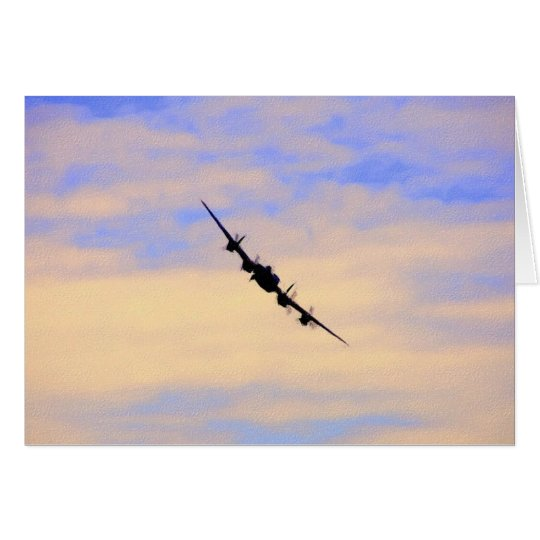Lancaster World War 2 British Bomber Card