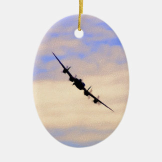 Lancaster World War 2 British Bomber Ceramic Oval Decoration