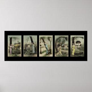 LANCE Alphabet Letter Name Art Posters