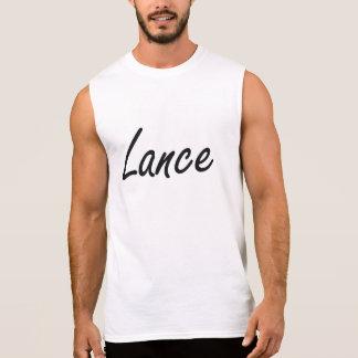 Lance Artistic Name Design Sleeveless Tees